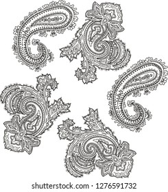 Paisley Floreal Illustration Vintage