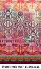 paisley  horizontal border pattern background