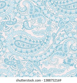 Paisley seamless floral pattern. Vintage background