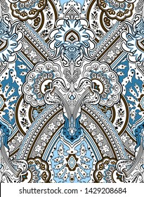 Paisley seamless pattern. Damask background