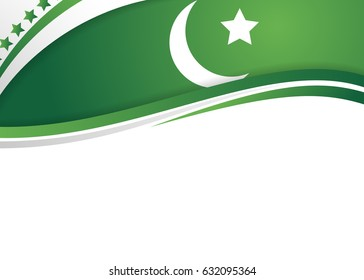 25133e32859a92 Pakistan Flag Themed Patriotic Green Banner Stock Illustration ...