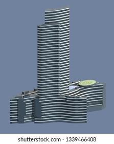 Palazzo Lombardia, Milan, Porta Nuova, skyscraper, 3/15/2019. Lombardia region, headquarters of the Regional Council of Lombardy, the square city of Lombardy. Italy. 3d rendering