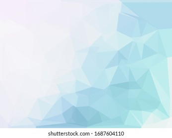 Pale Blue and White Polygonal Background, Creative Design Templates