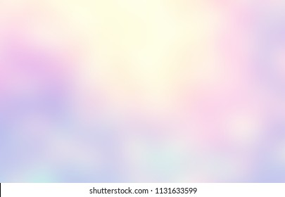 Pale glare ombre pattern. Abstract pastel pink yellow magenta texture. Empty brilliance background. Blurred iridescent illustration.