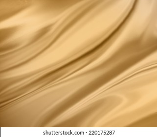 pale gold background abstract cloth or liquid wave illustration of wavy folds of silk or satin texture, gold luxurious Christmas background design.