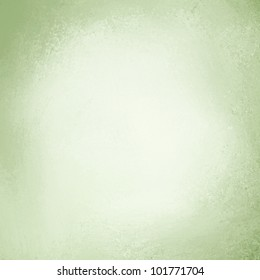 pale pastel green background with white center and soft pastel vintage grunge background texture design on border, light green paper page