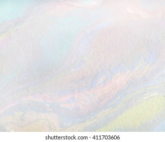 Pale pink, olive, cold green, purple and blue colors transitions. Iridescent texture. marbling effect.