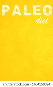 Paleo diet poster background yellow