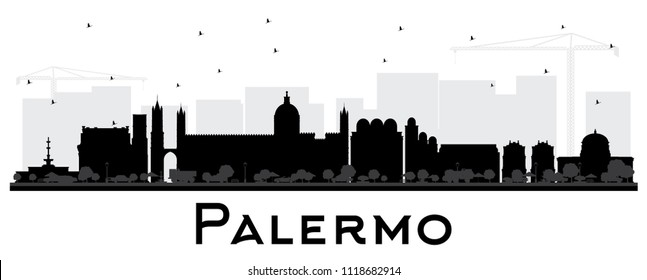 Landmarks silhouettes stock vector. Illustration of state ... |Sicily Landmark Silhouette