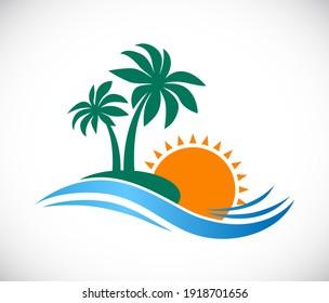 palm island logo colored icon