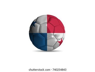 Panama ball ,High quality render of 3D football ball 3D rendering.