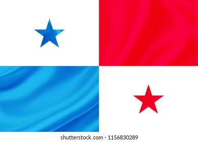 panama fabric flag waving,3D Illustration