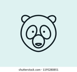 Panda icon line isolated on clean background. Panda icon concept drawing icon line in modern style.  illustration for your web mobile logo app UI design.