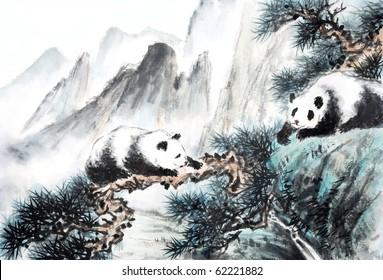 panda of landscape