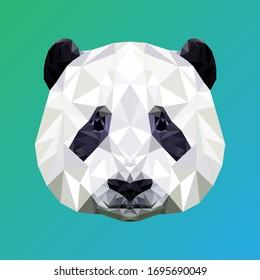 Panda in Low Poly Design