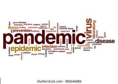Pandemic word cloud concept