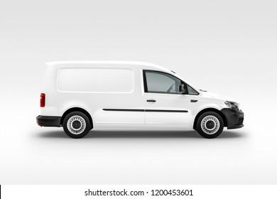 Panel Van Vehicle right view. 3D rendering