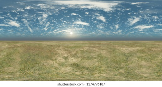 Panorama of landscape. Environment map. HDRI . equidistant projection. Spherical panorama. panorama 360. 3d rendering