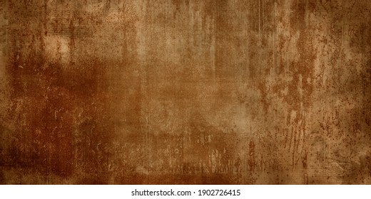 Panoramic grunge rusted metal texture, rust and oxidized metal background. Old metal iron panel