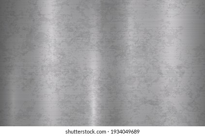 Panoramic metal background with rust - illustration