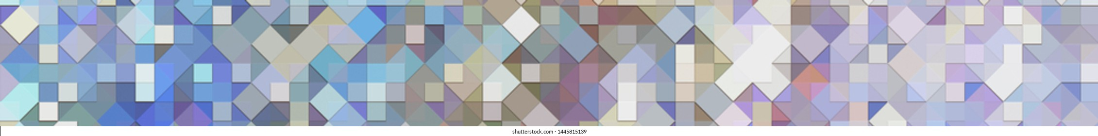 Panoramic multicolored background texture with mosaic. Geometric mosaic design. Abstract color trendy background. Mosaic texture with geometric shapes.