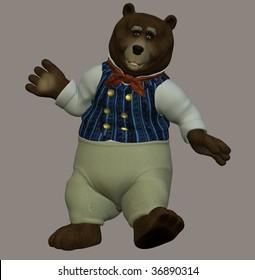 Papa bear from the nursery rhyme The Three Bears.