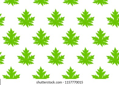 Papaya leaves Pattern parallel good for printing on fabric or any.Made with Inkscape SVG file