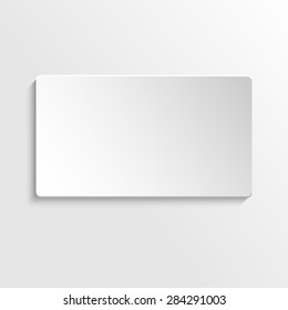 Paper 3d rectangle card, can be used as button or badge.