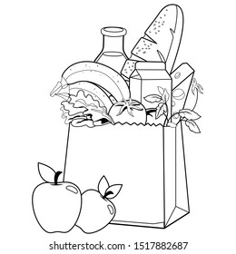 Grocery Coloring Page High Res Stock Images Shutterstock