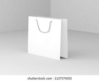Paper Bag Mockup. 3d rendering
