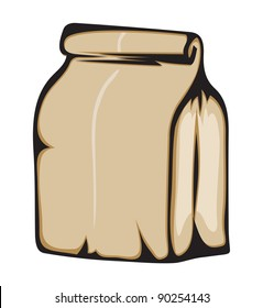 Paper bag. Vector format is also available in my gallery