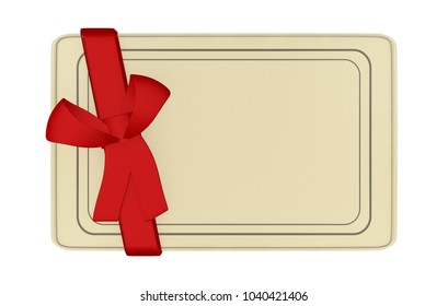 Paper Card with red lace 3D Illustration