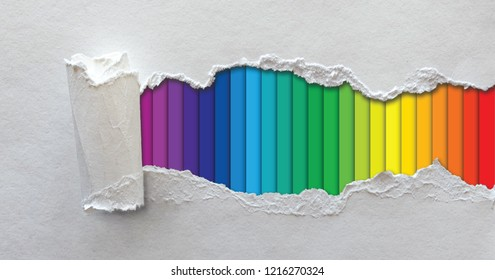 Paper CMYK Color wheel rainbow stripes background with shadow cyan magenta yellow black Colorful spectrum gradient. Concept presenting color printing fun funny color mode  Prepress  printing pms flyer