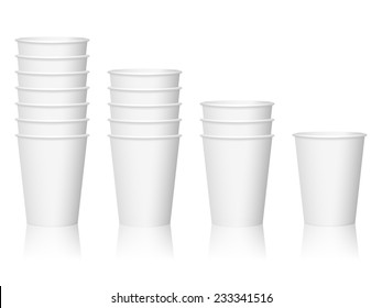 paper coffee cups illustration.