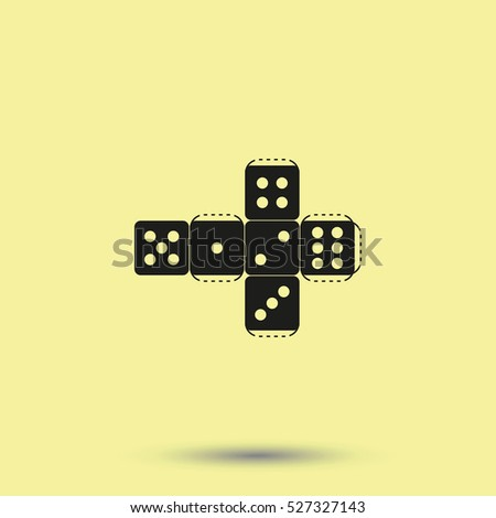 Paper dice template icon stock illustration 527327143 shutterstock paper dice template icon maxwellsz