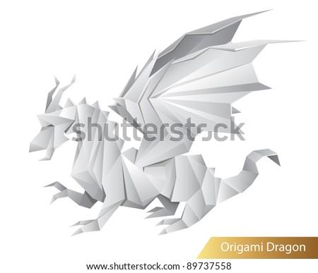 Royalty Free Stock Illustration Of Paper Dragon Origami Raster
