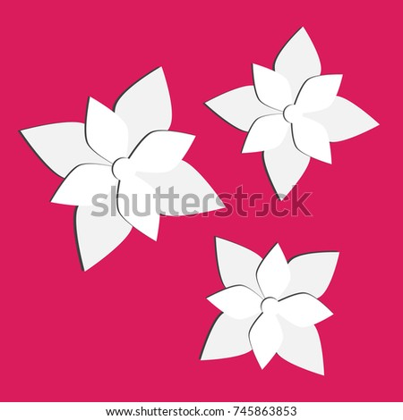 Paper flowers set 3 d origami abstract stock illustration 745863853 paper flowers set 3d origami abstract flower mightylinksfo