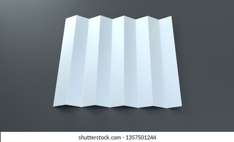 Paper folding clapper mockup. Sports fan stadium noise maker template. Isolated realistic 3d render.