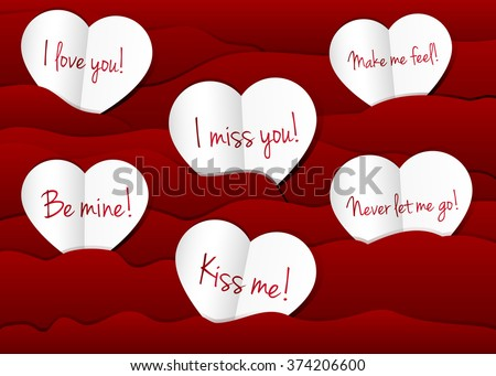 Royalty Free Stock Illustration Of Paper Hearts Background Love You