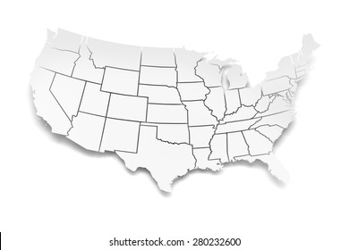 United States Map 3d Images, Stock Photos & Vectors | Shutterstock