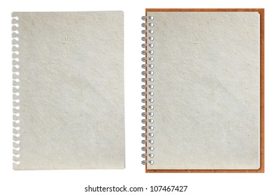 Paper notebook, isolated on white background (Save Paths For design work)