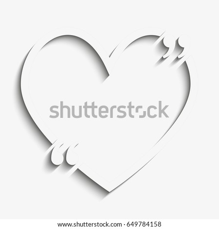 paper quote blank template quote heart stock illustration 649784158