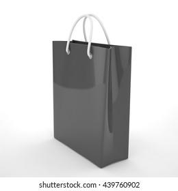 Three Black Silhouette Fashion Grocery Paper Stock Vector (Royalty ... b6cf524db38