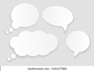 Paper speech bubbles set. message
