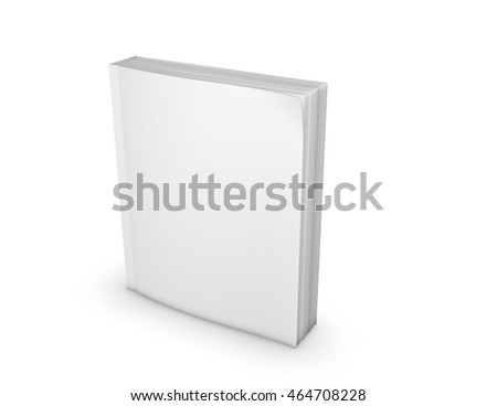 paperback book empty cover standing on stock illustration 464708228