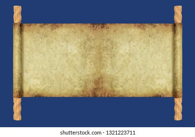 Papyrus unrolled by decorative rods