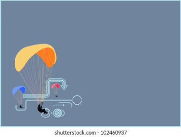 Parachute background with space (poster, web, leaflet, magazine)