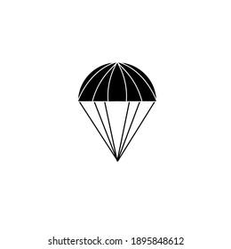 Parachute icon isolated on white background