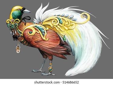 Paradise bird .Jewelry