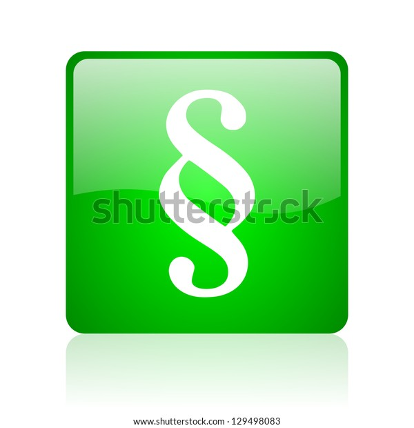 paragraph green square web icon on white background